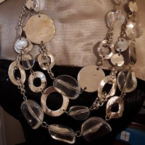 Clear beads & silver glam!